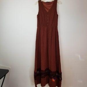 Modcloth Doe & Rae BOHO maxi dress size Large